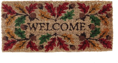 TEZERAC Coir Small Door Mat MARSH LEAF PRINT