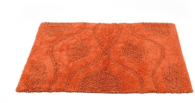 Homefurry Orange Bed Flower Cotton Large Bath Mat Bath Mat, Bath Rugs