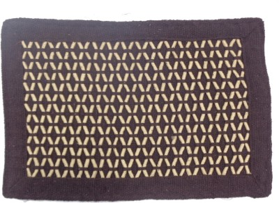 Home Fashion Cotton Medium Door Mat Cotton Zig Zag Door Mat