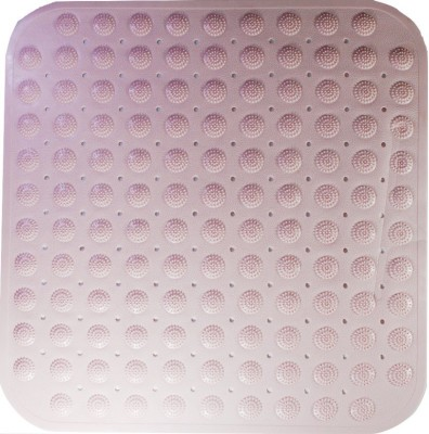 Saira Rubber, PVC Medium Bath Mat Pink Synthetic Material with Suction Cups