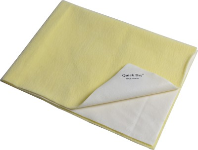 quick dry Microfiber Large Sleeping Mat Bed Protector(Yellow, 1 Mat)