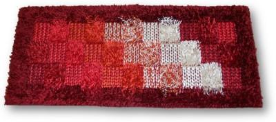 Sudesh Handloom Non-woven Medium Floor Mat Sudesh Handloom Small Check Design Rug