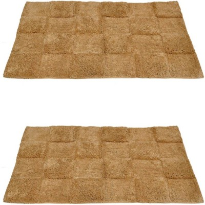 Homefurry Cotton Large Bath Mat Glossy Tiles