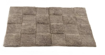 Homefurry Greyish Brown Glossy Tiles Cotton Large Bath Mat Bath Mat, Bath Rugs