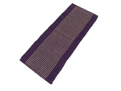 Home Fashion Polyester Medium Floor Mat Purple Feather Rib Floor Runner