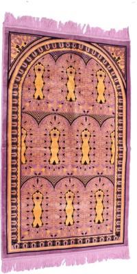 Muslimkart Polyester Medium Prayer Mat Mat(Purple, 1 Mat)