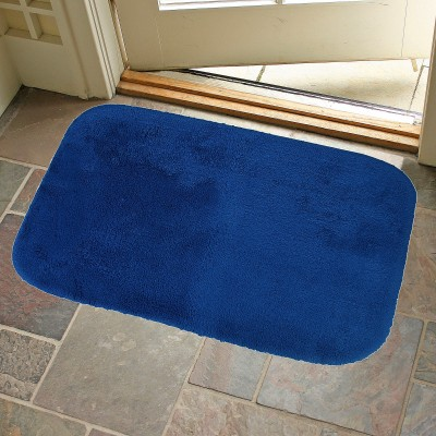 KunalHomeConcept Cotton Small Bath Mat Navy Blue Oslo Bathmat