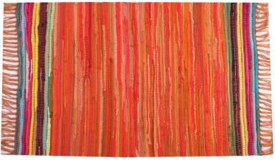 Homenblingss Cotton Small Door Mat Equals2 Orange Rug