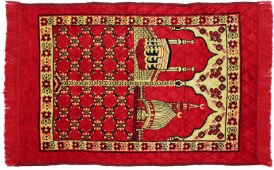 BSB Trendz Polypropylene Medium Prayer Mat Muslim Prayer Mat(Red)