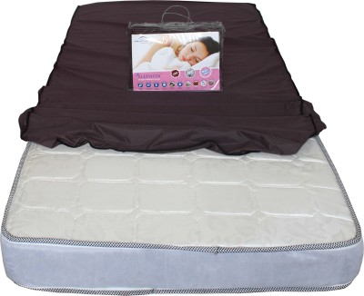 Dream Care Elastic Strap Twin Size Mattress Protector(Maroon)