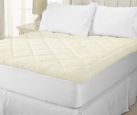Linenwalas Fitted King Size Mattress Protector(White, Gold)