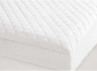 Bagrastore Elastic Strap Single Size Mattress Protector(White)