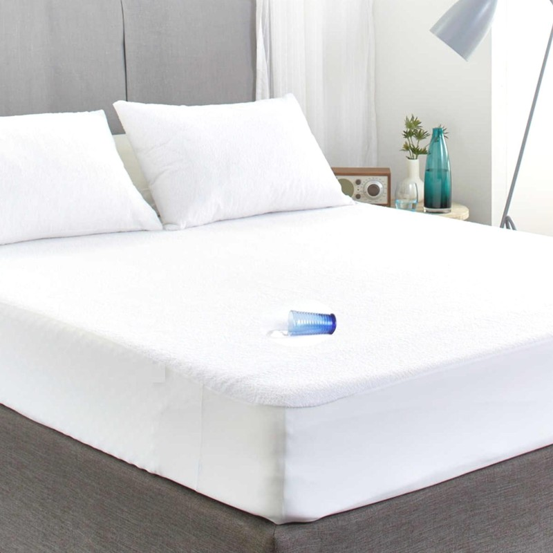 Sleepdry Fitted King Size Mattress Protector(White)