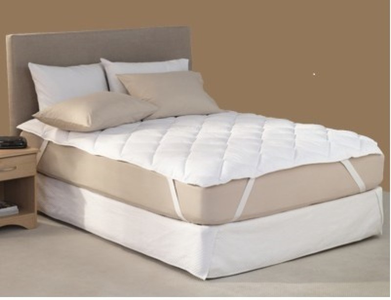 Sheetal Elastic Strap Single Size Mattress Protector(White)
