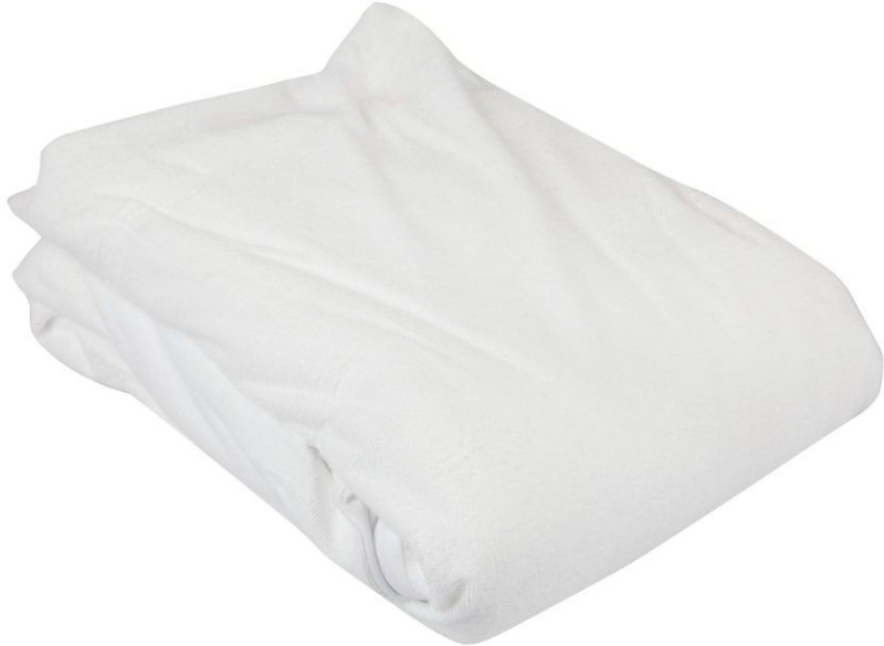 Just Linen Elastic Strap Queen Size Mattress Protector(White)