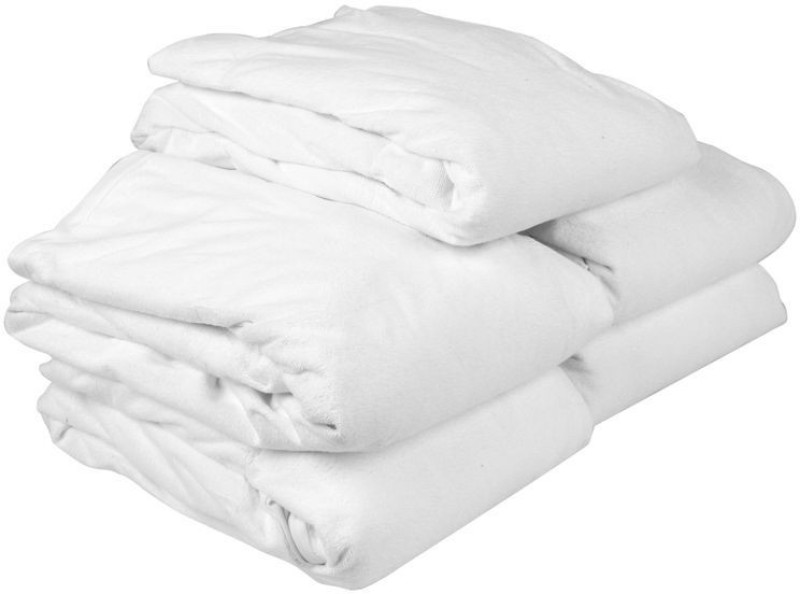 Just Linen Fitted Single Size Mattress Protector(White)