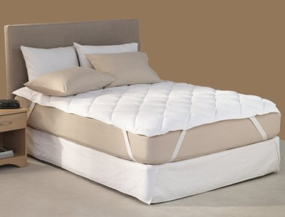 Adithya Fitted King Size Mattress Protector(White)