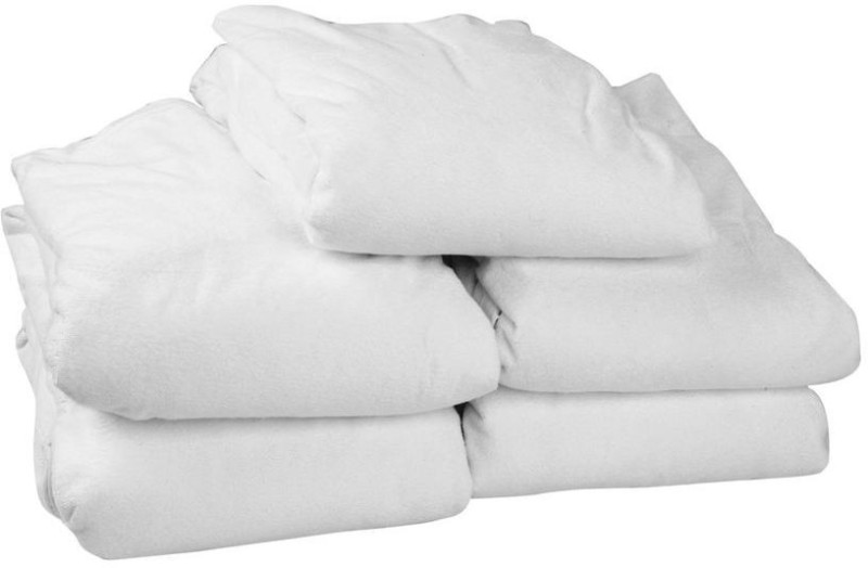 Just Hospitality Elastic Strap Queen Size Mattress Protector(White)