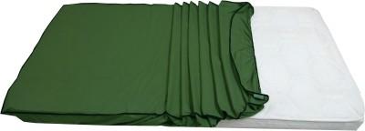 Lithara Elastic Strap Twin Size Mattress Protector(Beige)