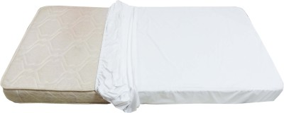 Glassiano Elastic Strap Queen Size Mattress Protector(White)
