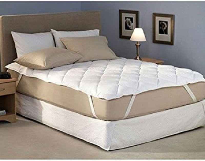 D&D Elastic Strap Single Size Mattress Protector(White)