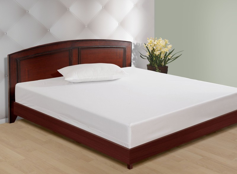 Swayam Elastic Strap Single Size Mattress Protector(White)
