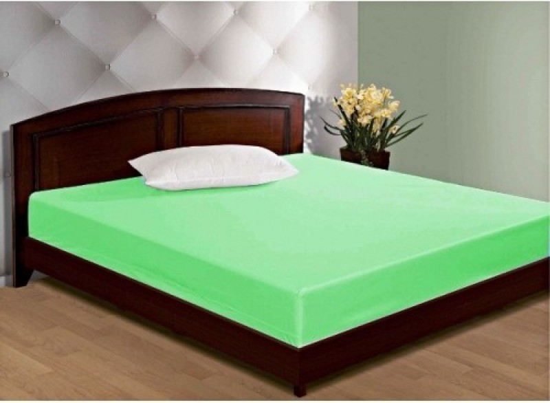 GD HOME DECOR Zippered Standard Size Mattress Protector(Green)