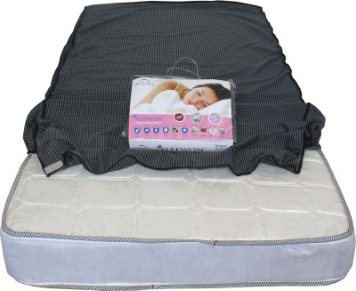 Dream Care Elastic Strap Twin Size Mattress Protector(Grey)
