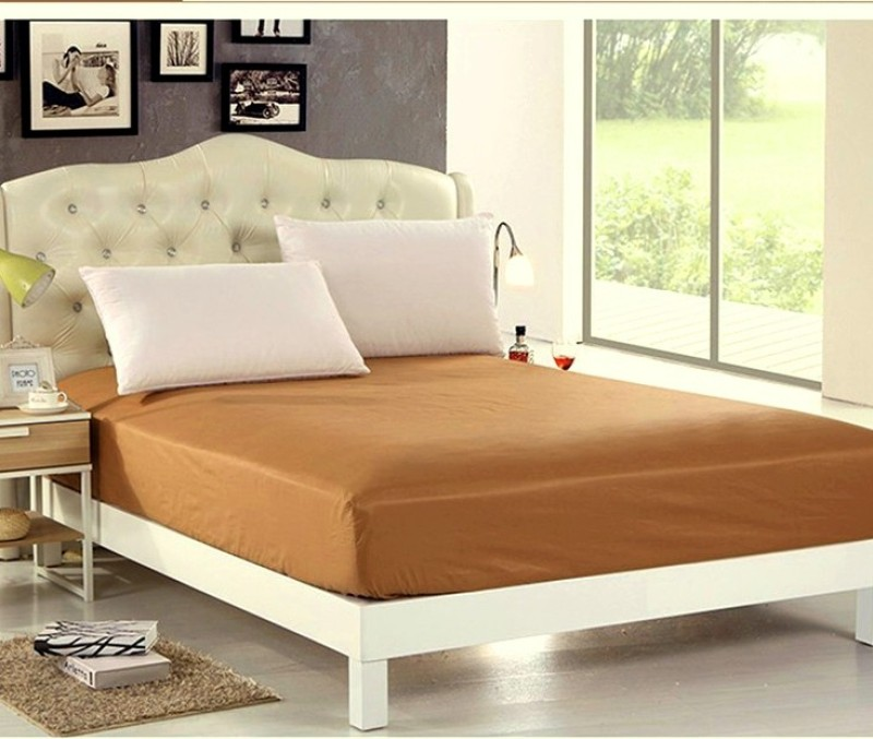 Sleepdry Fitted Queen Size Mattress Protector(Beige)
