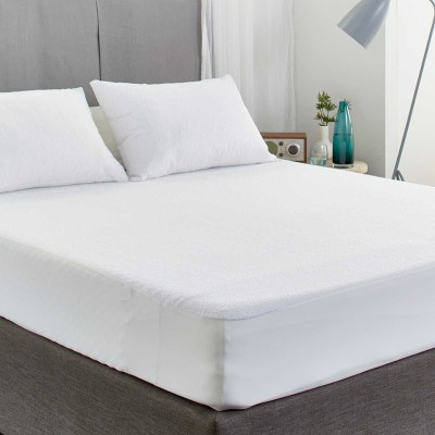 Ahmedabad Cotton Fitted King Size Mattress Protector(White)