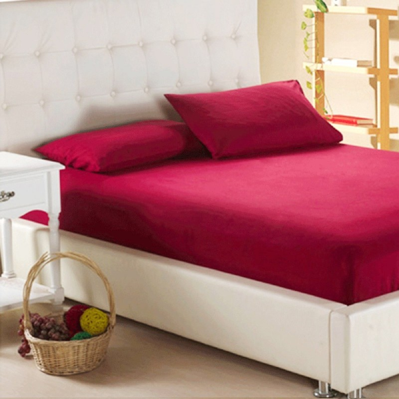 L'Exotique Fitted King Size Mattress Protector(Maroon)