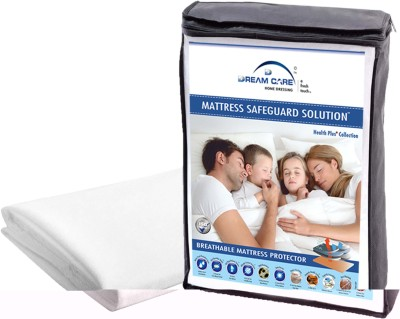 Dream Care Fitted Queen Size Mattress Protector(White)