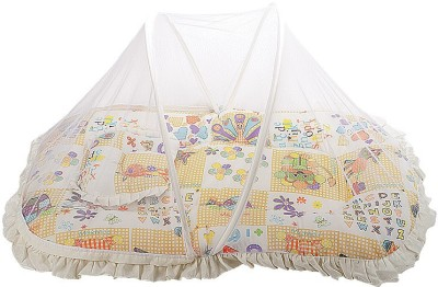 Mee Mee Printed Mattress Set With Mosquito Net & Pillow