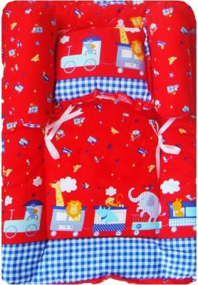 Stuff Jam Stuff Jam Advance Baby Train Print Mattress Set with Pillow & Bolsters
