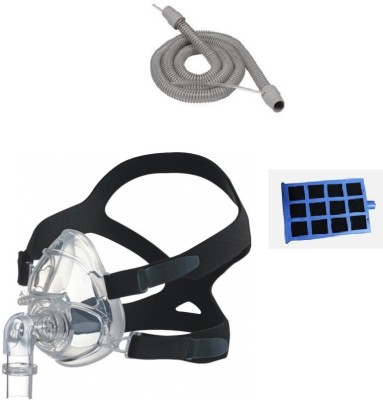 Hoffrichter BIPAP Full Face Mask Small, Therapy Tube With Sensor & Trend Filter Medical Equipment Combo