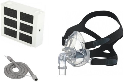 Hoffrichter TREND II Filter, Therapy Tube With Sensor & BIPAP Full Face Mask Medium Medical Equipment Combo