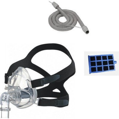 HOFFRICHTER THERAPY TUBE WITH SENSOR, BIPAP FULL FACE MASK LARGE AND TREND FILTER Medical Equipment Combo