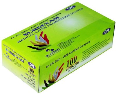 Om Surgicals SURGEXAM Latex Examination Gloves