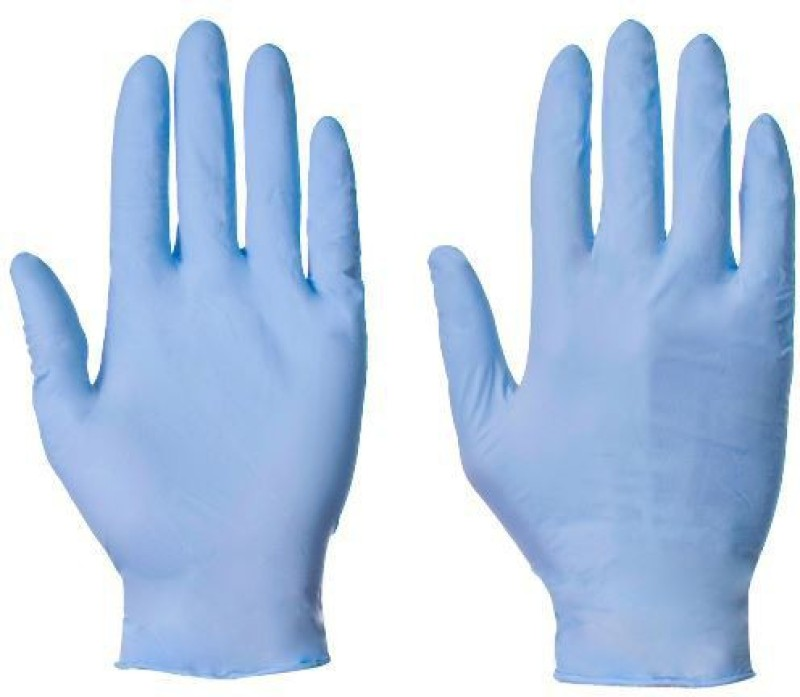 Midas Safety EN 374-2003 Nitrile Examination Gloves(Pack of 100)