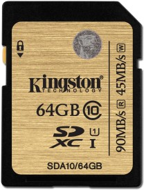 Kingston Ultra 64 GB SDXC Class 10 90 MB/s Memory Card