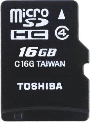 Toshiba 16GB MicroSDHC Class 4 (15MB/s) Memory Card