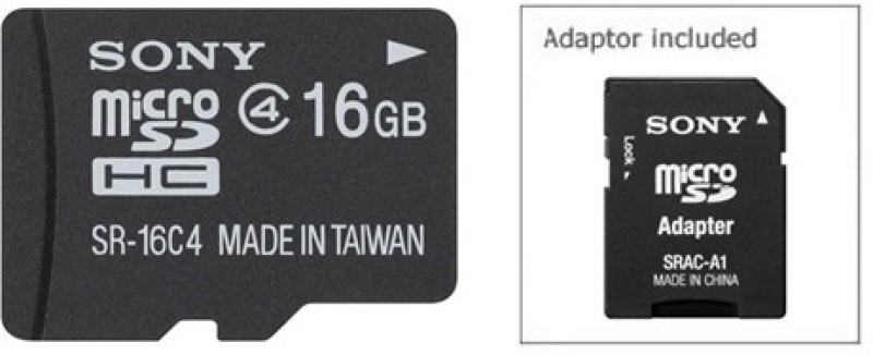 Sony 16 GB MicroSD Card Class 4  Memory Card