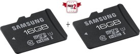 Samsung Pack of 2 MB-MA16E 16 GB MicroSD Card Class 10 24 MB/s  Memory Card