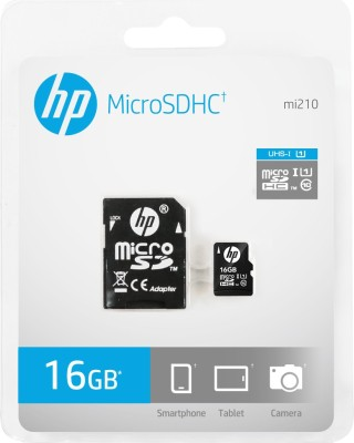 HP U1 16 GB MicroSD Card Class 10 90 MB/s Memory Card