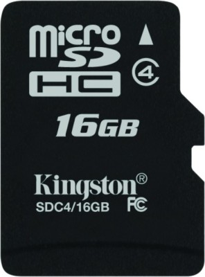 Kingston 16GB MicroSDHC Class 4 (4MB/s) Memory Card