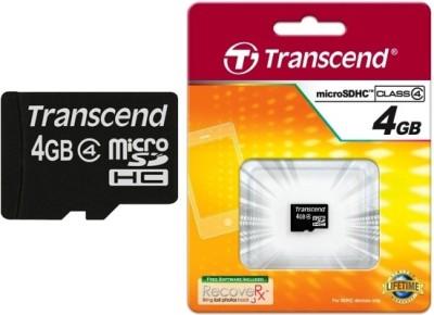 Transcend 4GB MicroSDHC Class 4 Memory Card
