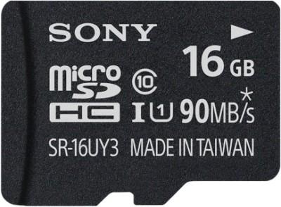 Sony SR-16UY3A/T1 16 GB MicroSD Card Class 10 90 MB/s Memory Card