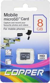 Copper 8GB MicroSDHC Class 4 MicroSDHC Memory Card