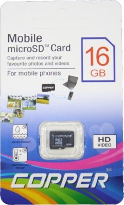 Copper 16GB MicroSDHC Class 4 Memory card