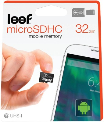 Leef 32GB MicroSDHC Class 10 UHS-1 Memory Card